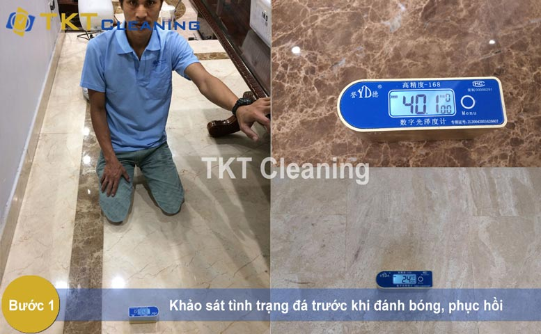 Pictures: Step 1 - Survey about the stone floor