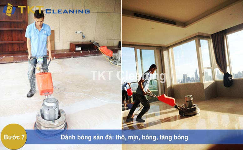 Image: Step 7 - Grinding and polishing Marble floor