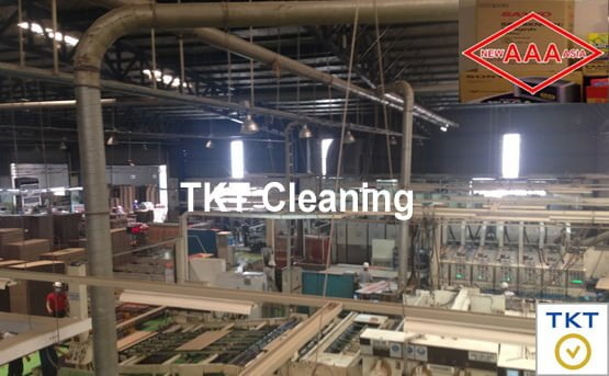 Spider web dust cleaning service at paper factory in Binh Chieu Industrial Zone