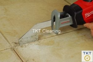 oscillating machine for removing old grout