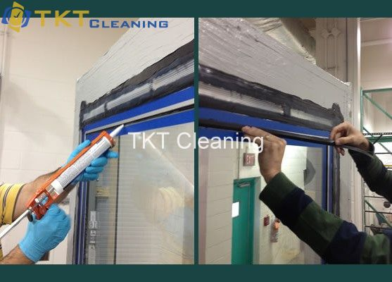 Bắn demo Silicon chống thấm kính TKT Cleaning