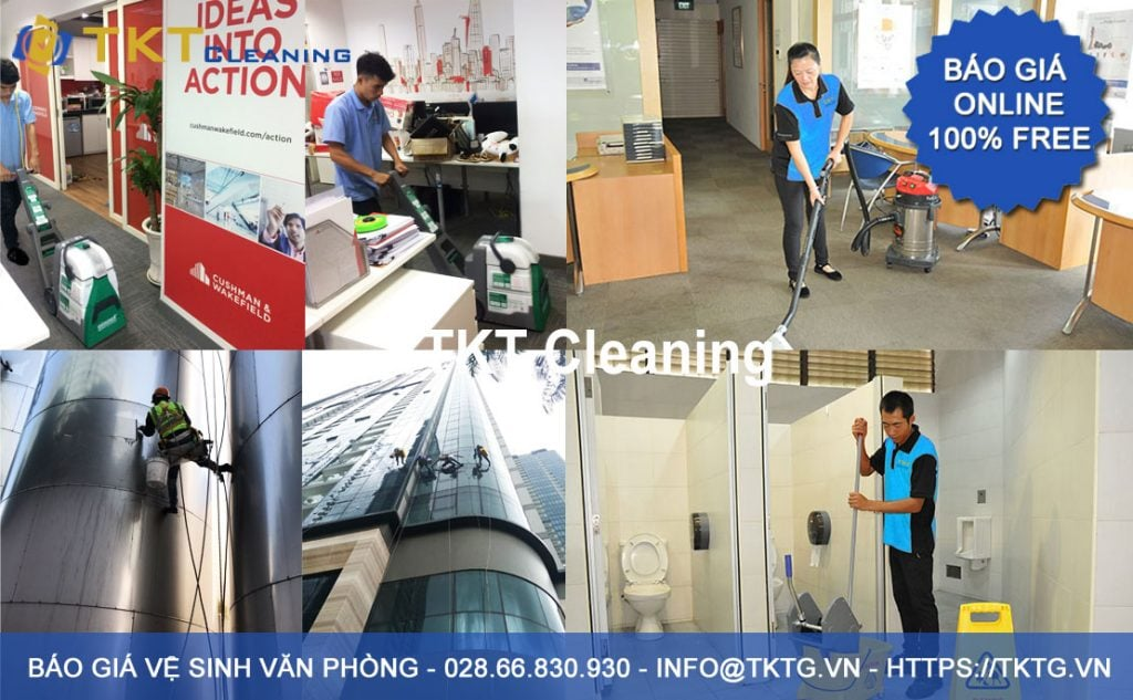office cleaning service quotes in Ho Chi Minh 2019 - TKT Cleaning
