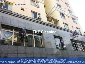 dịch vụ lau kính chung cư HCM - TKT Cleaning