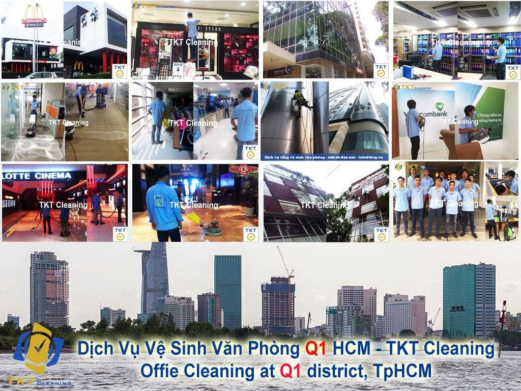 dịch vụ vệ sinh văn phòng Q1 TPHCM - TKT Cleaning
