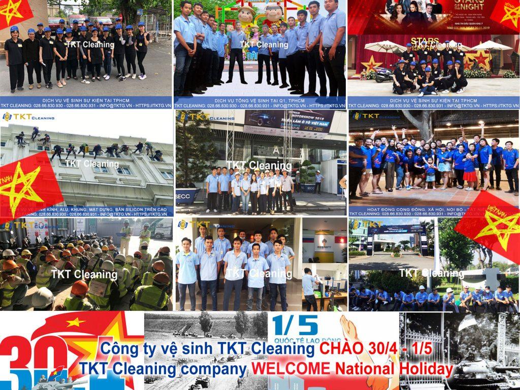 công ty vệ sinh TKT Cleaning kỷ niệm lễ 30/4 và 1/5 tại TPHCM