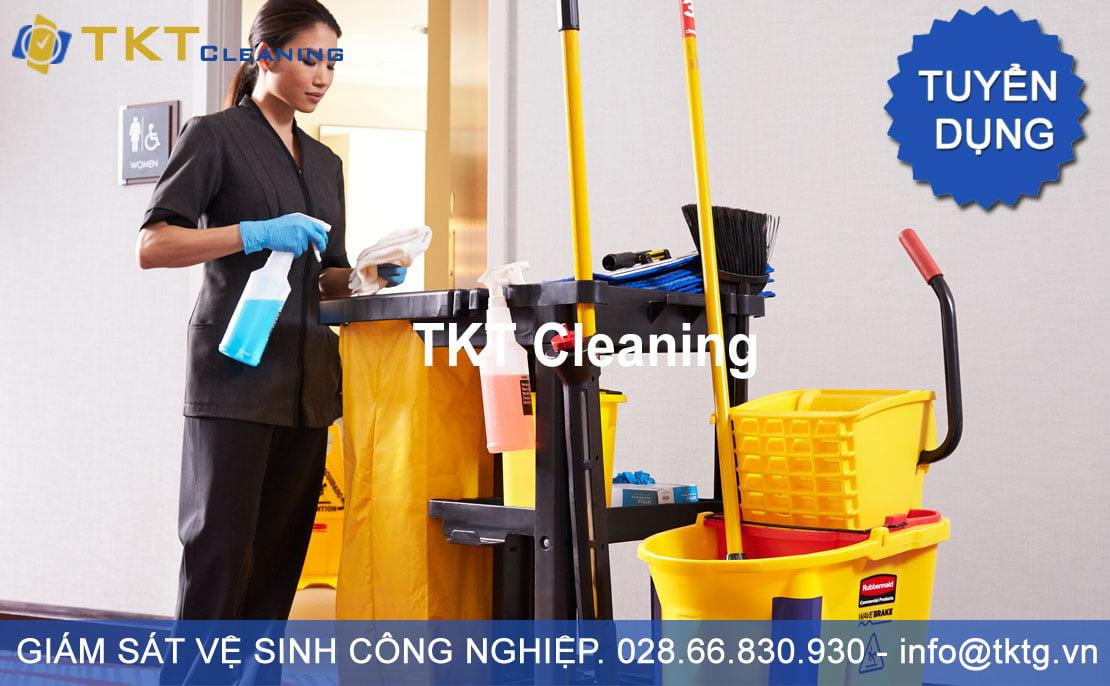 Tuyển dụng giám sát vệ sinh công nghiệp