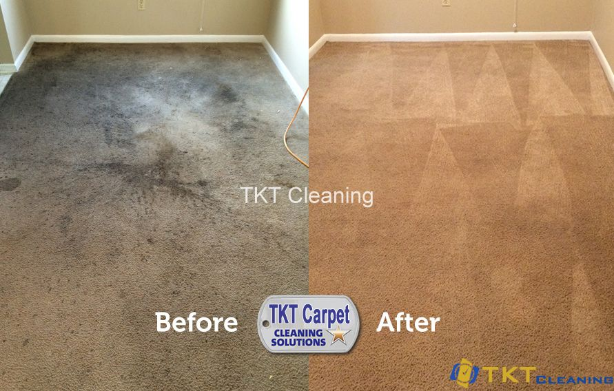 TKT Commercial carpet cleaning Before - After