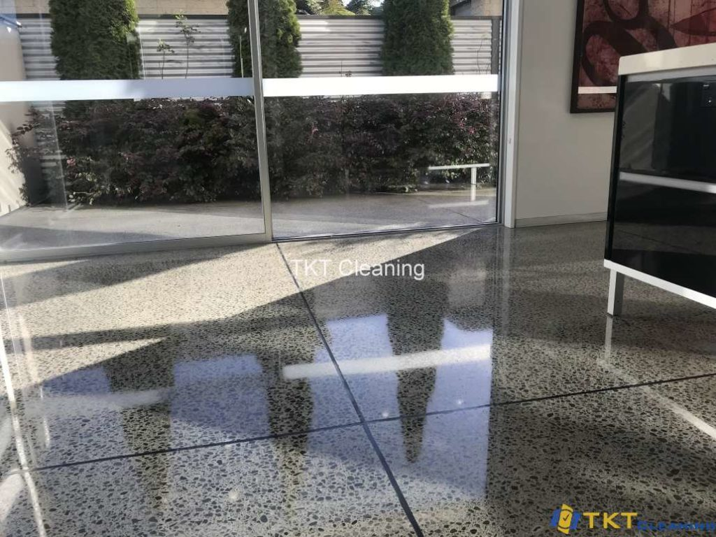 finished concrete floor after repairing