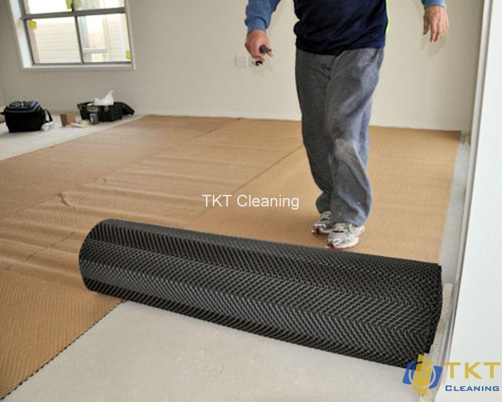 lót sàn nhựa dạng cuộn trực tiếp lên sàn phụ nền bê tông