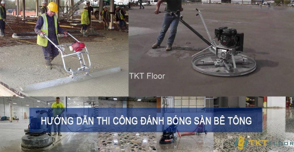 hướng dẫn thi công đánh bóng sàn bê tông