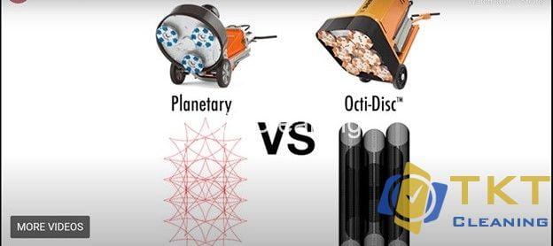 So sánh công nghệ mài sàn bê tông đa đĩa và quỹ đạo